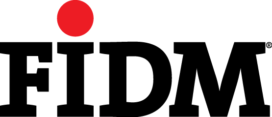 Black-with-warm-red-dot FIDM LOGO